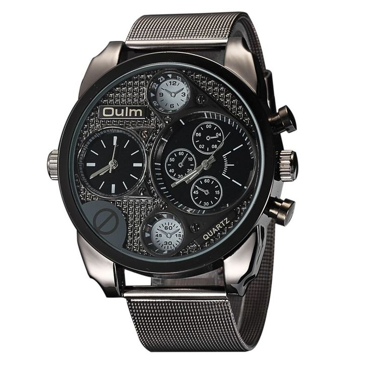 Luxury Brand Design Oulm Watches Men Full Steel Quartz-watch Antique Male Casual Military Wristwatch relojes hombre 2016 #>=#>=#>=#>=#> Click on the pin to check out discount price, color, size, shipping, etc. Save and like it!