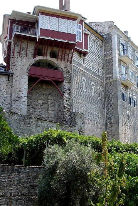 The Holy and Great Monastery of Vatopedi (Agion Oros), Mount Athos, Greece
