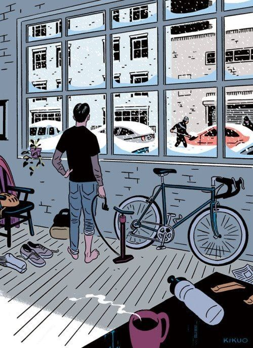 made by: Kikuo , illustration - (It's not a bike day)