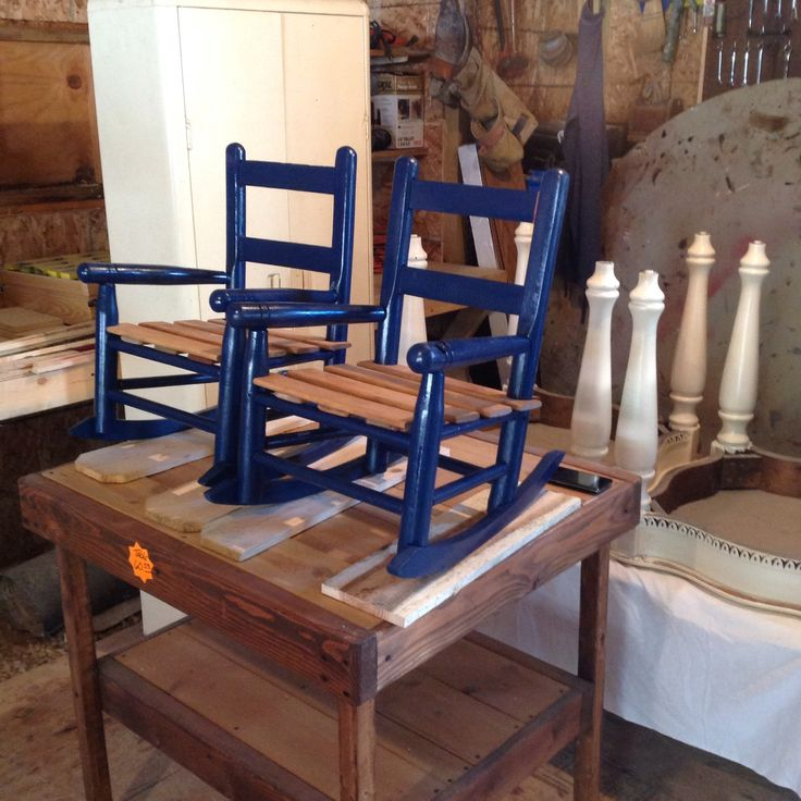 We Refinished These Rockers For One Of Our Customers At Wooden Wonders.  Waveland, In