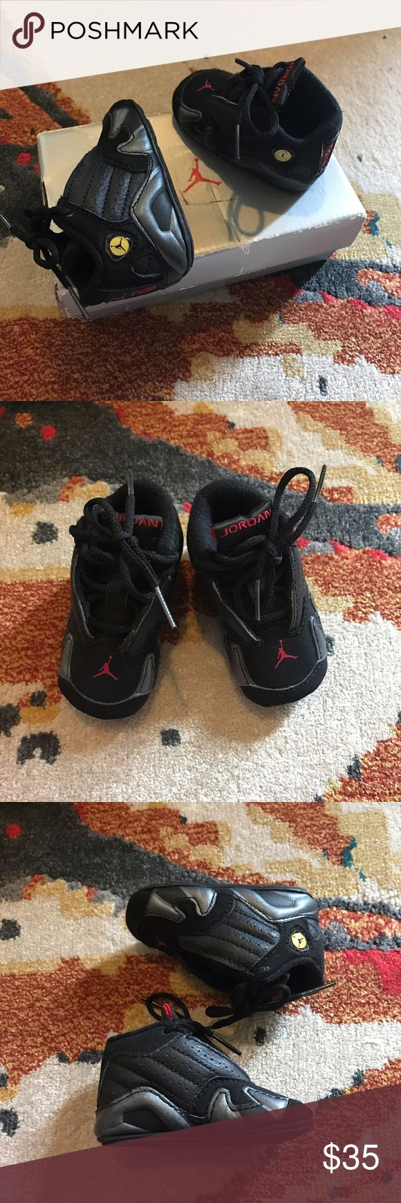 Adorable Black Kid Jordan Shoes Super cute high top air Jordan's for kids - red and black and in great condition! Kids baby shoes : 2C Jordan Shoes Sneakers