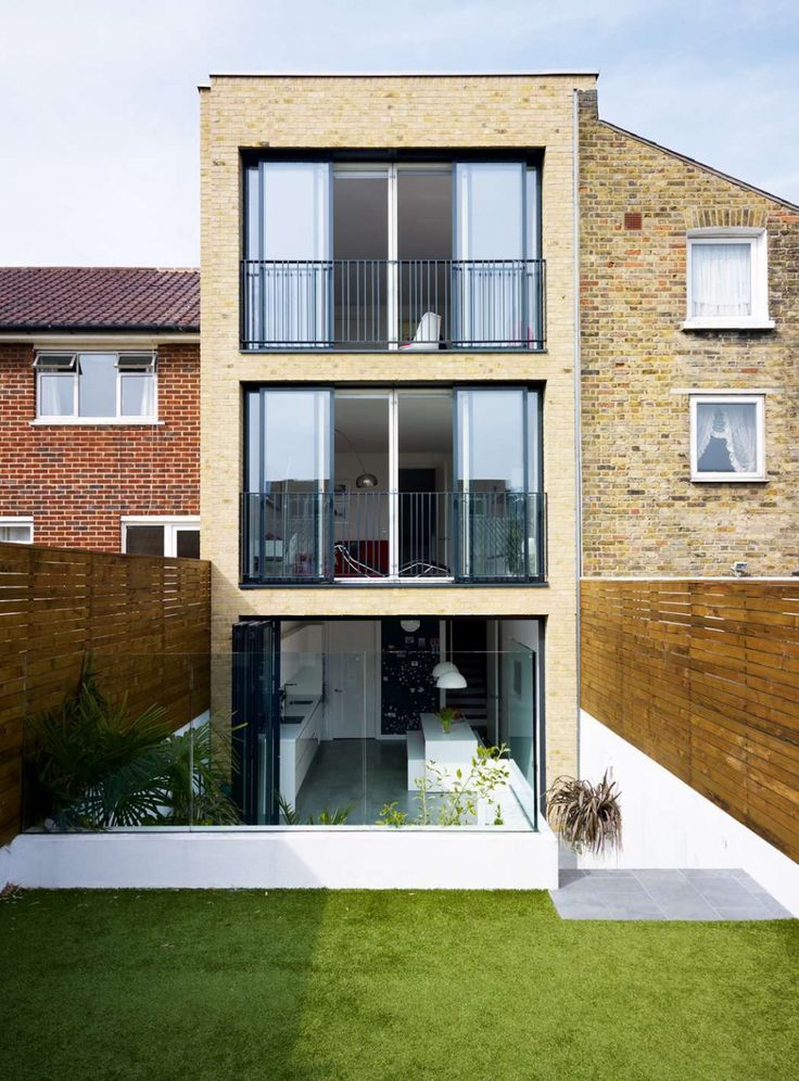 260 best images about terraced house kitchen diner extension on pinterest rear extension - One story houses narrow plots ...