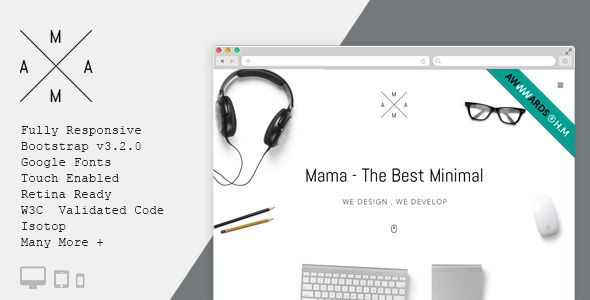 MAMA - Creative Minimal Portfolio WordPress Theme