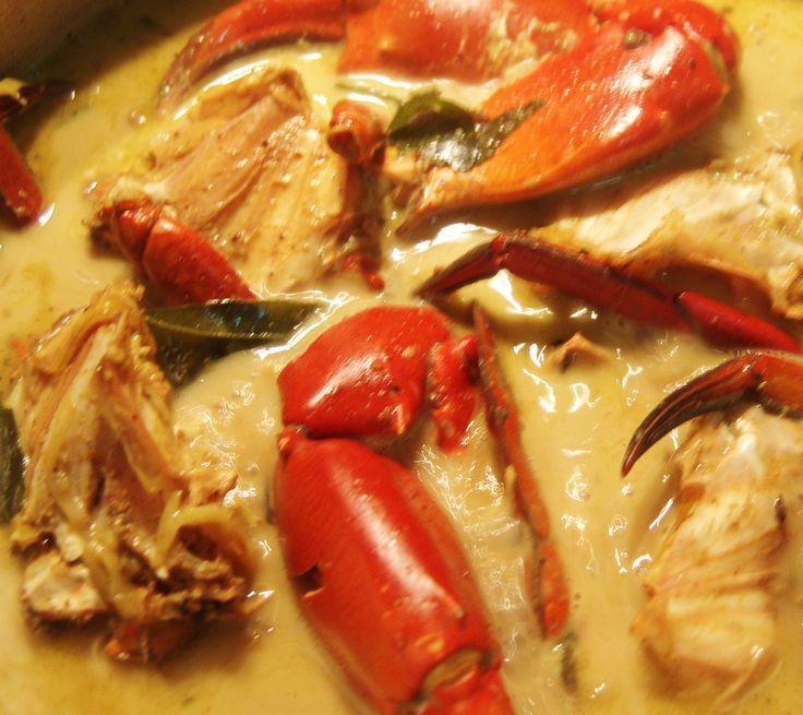 Crab curry in coconut cream #crab #crabcurry