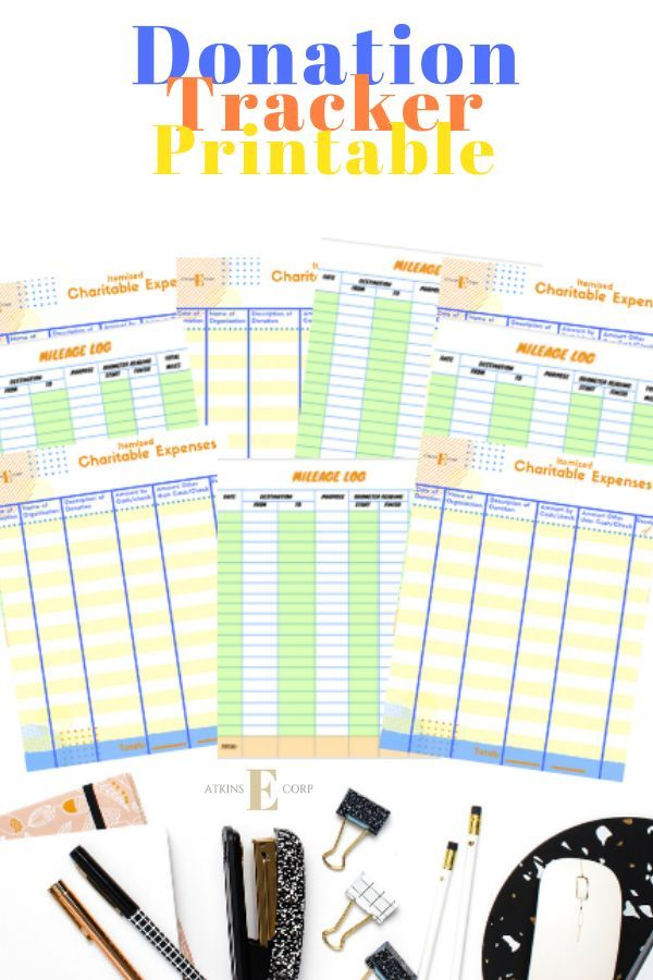 itemized charitable expense worksheets with mileage logs income