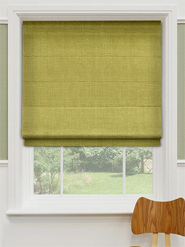 Providence Moss Green Roman Blind from Blinds 2go