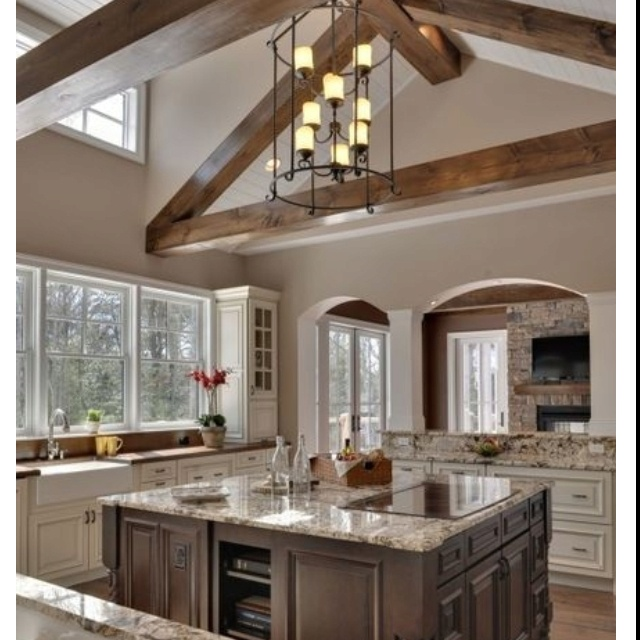 Kitchen Cabinets That Hang From The Ceiling: 17 Best Images About Vaulted Ceiling Ideas On Pinterest