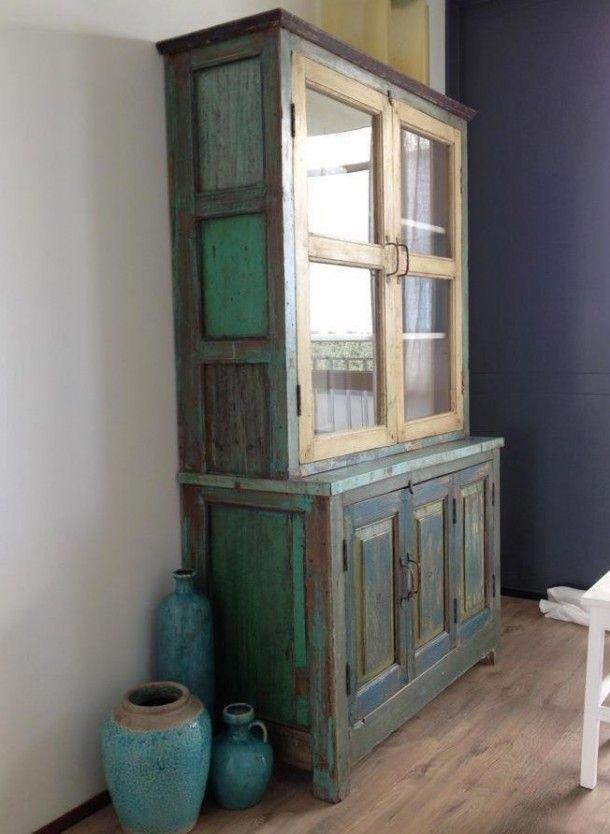 100 jaar oude indiase kast kasten cupboards for Kast verven welke kleur