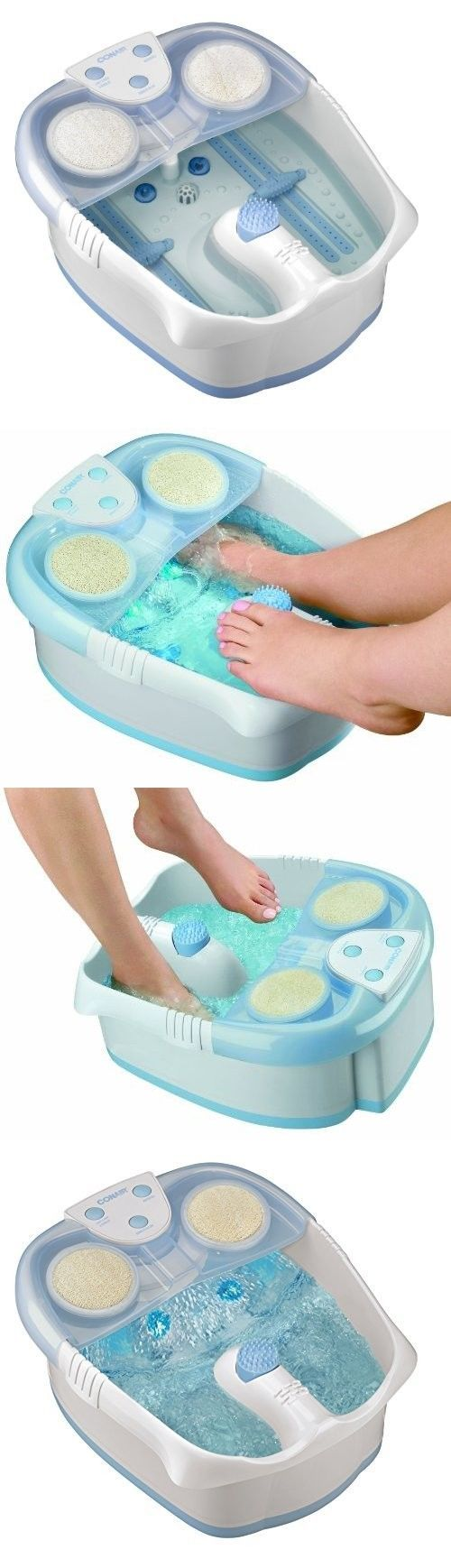 Spas Baths and Supplies: Foot Spa Massager Conair Tub Bath Pedicure Bubbles Heat Lights Therapy Room BUY IT NOW ONLY: $49.87