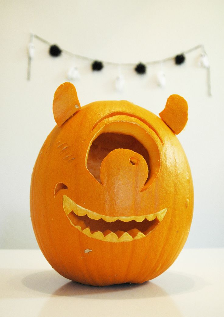 1000 ideas about mike wazowski pumpkin on pinterest for Mike wazowski pumpkin template