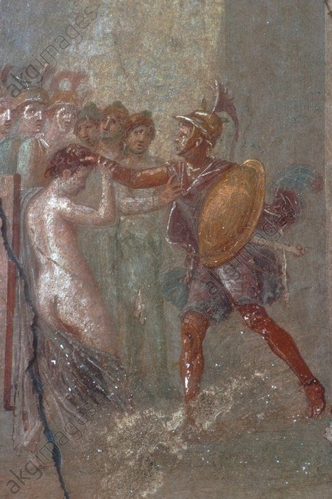 Pompeii, House of Menander, Mural Hélène et Ménélas