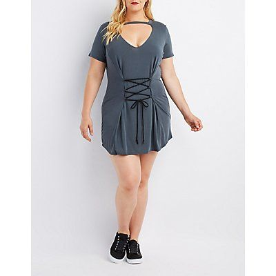 Lace-Up Corset Dress