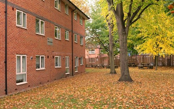 Garden areas surrounding Brookside accommodation for students