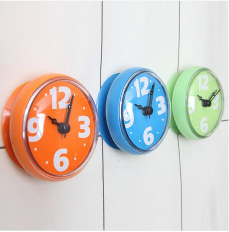 15 Best Blue Green Orange Grey Images On Pinterest  Blue Green Enchanting Small Wall Clock For Bathroom Design Inspiration