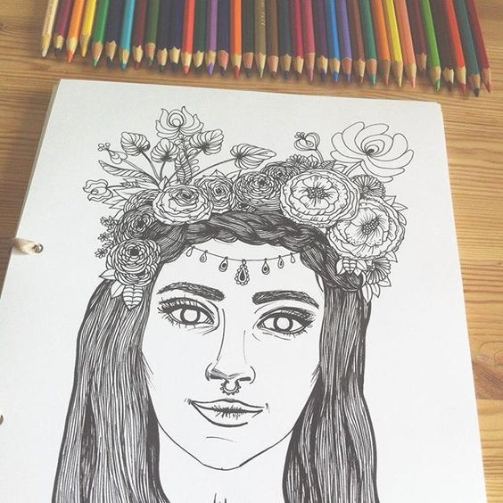 Coloring Book 25 Pages Festival Styled by EvelynIllustrations
