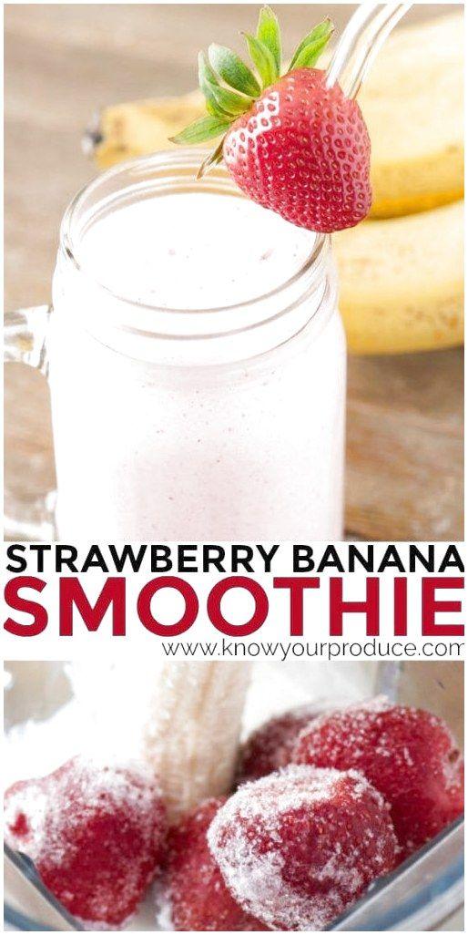 Machen Sie unseren Erdbeer-Bananen-Smoothie für eine süße Belohnung oder als Frühstücks-Smoothie …   – Healthy smoothies for kids