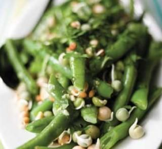 Fresh bean salad with zingy dressing