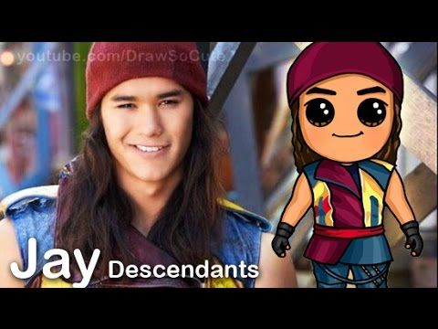 How to Draw Mal from Disney Descendants Cute step by step - YouTube