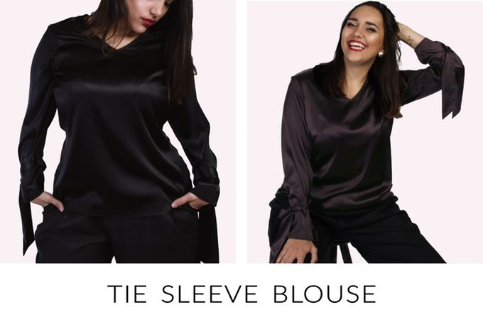 An irresistible blouse for curvy women, made of elastic, high quality silk. THE CURVY REVOLUTION HAS JUST BEGUN.