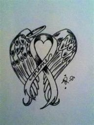Lung Cancer Ribbons Tattoos | Lung Cancer Ribbon Tattoo Designs