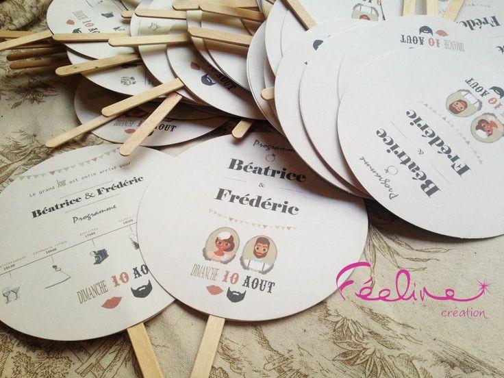 Assez 34 best Wedding invitation / Faire part Mariage Féeline création  XH22