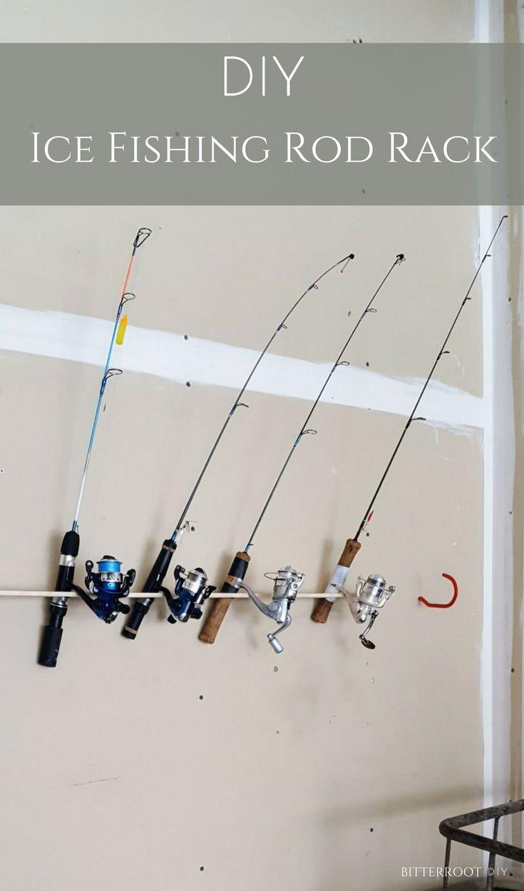 Best 25 fishing rod rack ideas on pinterest fishing for Ice fishing rod holder