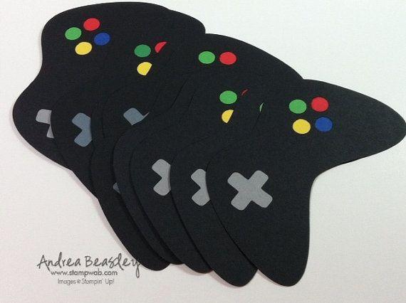 Jeux vidéo contrôleur découpées (8) noir