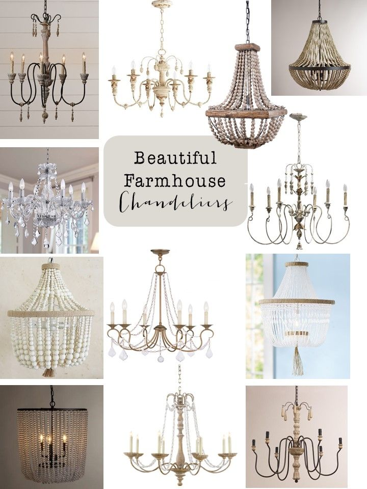 Friday Finds: Farmhouse Chandeliers - House of Hargrove  Today I am sharing all my favorite farmhouse chandeliers....some under $200