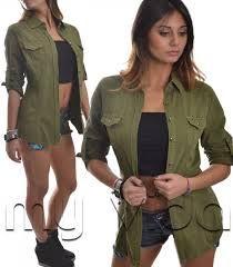 Risultati immagini per camicia stile militare donna
