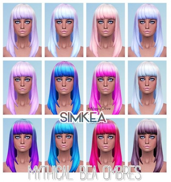 Simkea: Mythical Bea Ombres hairstyle