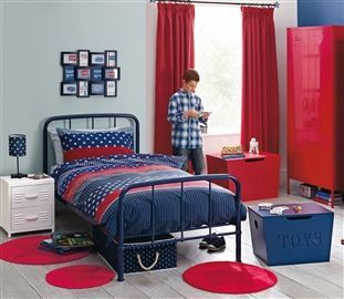 Buy Blue Powder Coated Metal Bed from the Next UK online shop