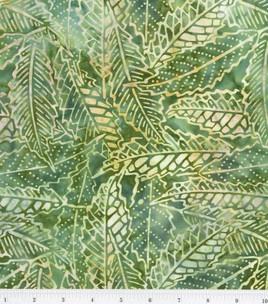 Legacy Studio Indonesian Batiks- Large Leaves Green: batik fabric: quilting fabric & kits: fabric: Shop | Joann.com