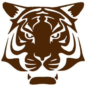 tigre fort boyard pochoir copie