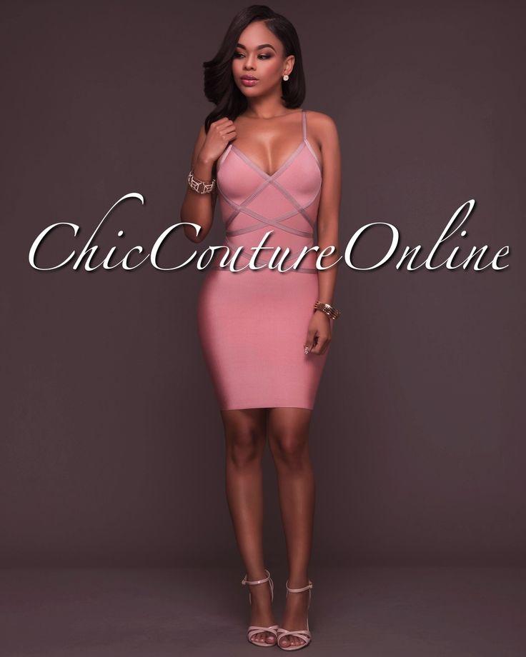 Chic Couture Online - Stela Dusty Pink Bandage Dress, (http://www.chiccoutureonline.com/stela-dusty-pink-bandage-dress/)