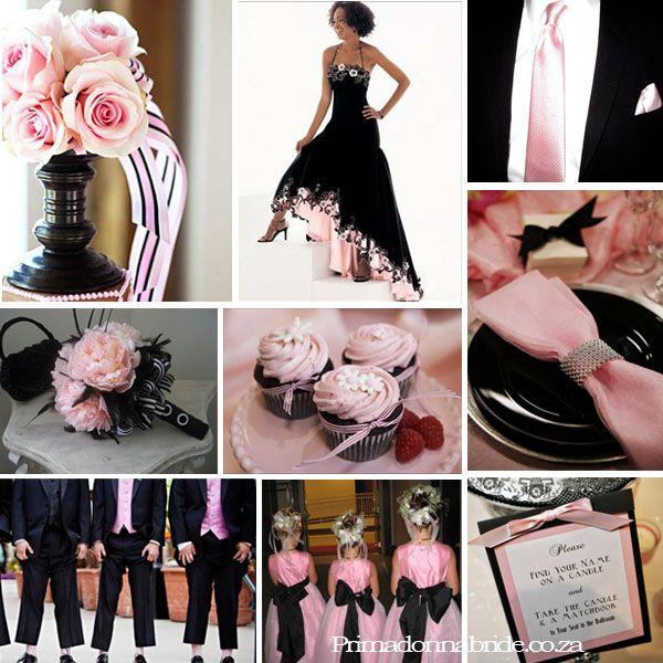 Wedding Colours Pale Pink And Black Primadonna Bride