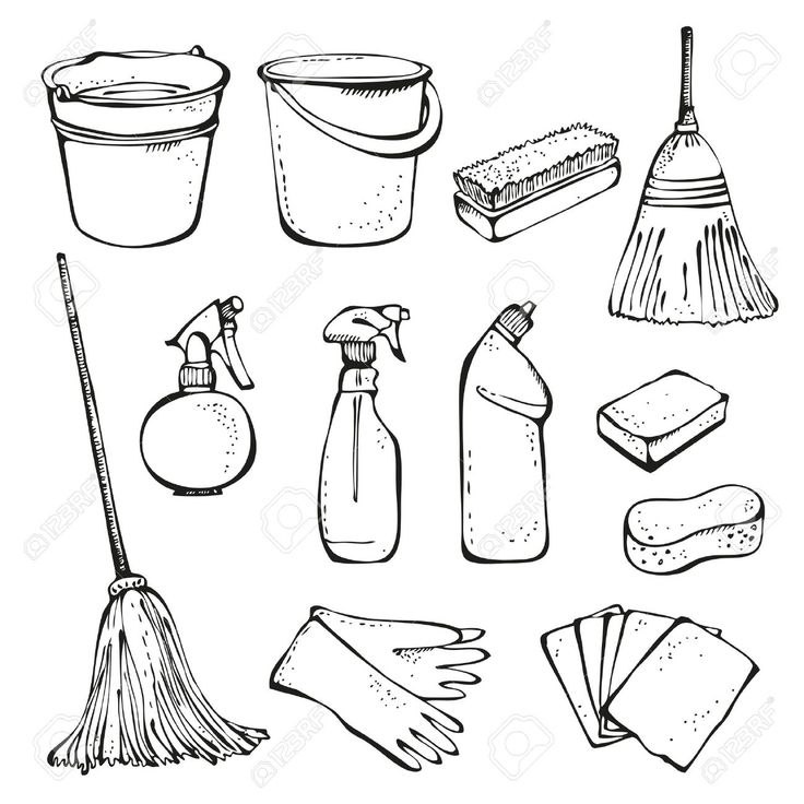 It is a photo of Invaluable Clean House Drawing For Kids