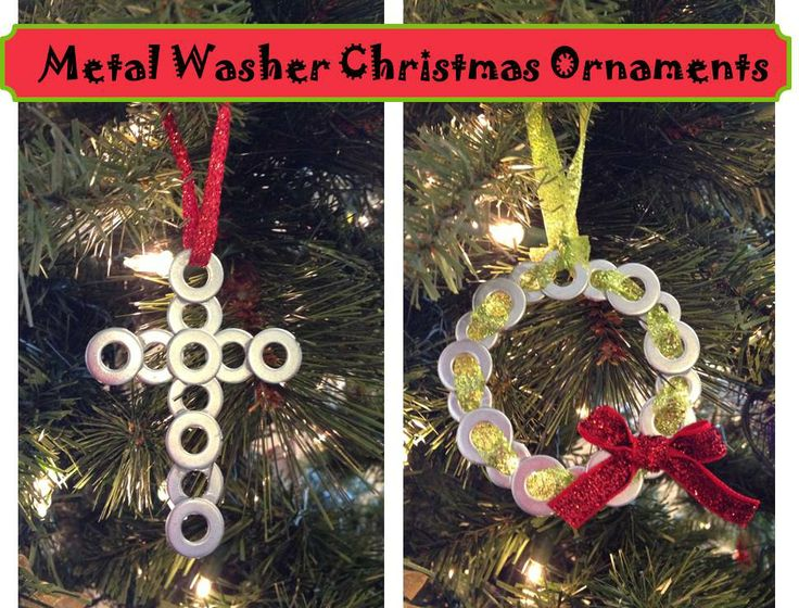 inspired whims  metal washer christmas ornaments