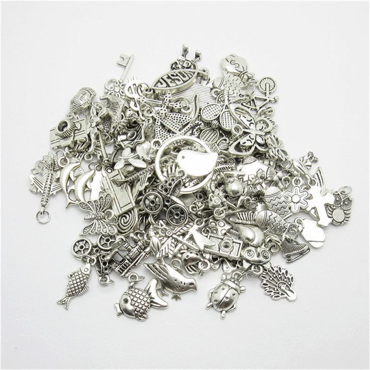 Wholesale 80pcs Random Mix different Tibetan Silver Charms Dangle Metal Alloy Charm fit Pendants for jewelry making