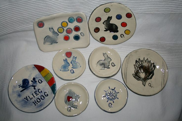 Ceramic plates Made by Quilly Collard Bloemfontein South-Africa