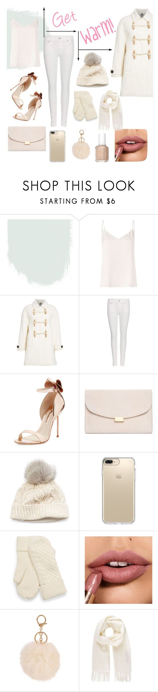 """""""Get warm"""" by suha123 ❤ liked on Polyvore featuring L'Agence, Burberry, Polo Ralph Lauren, Sophia Webster, Mansur Gavriel, SIJJL, Speck, Armitage Avenue, Vivienne Westwood and Essie"""