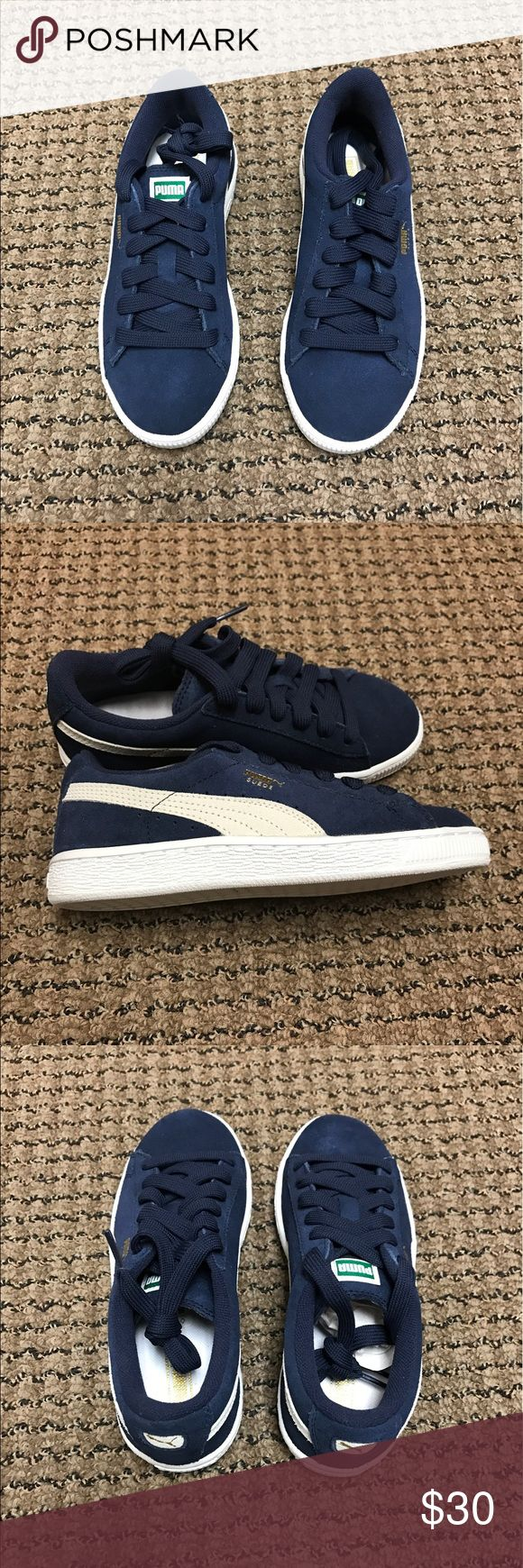 Brand New ❗️Blue Suede Pumas Brand New❗️❗️size 2.5 Puma Shoes Sneakers