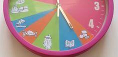 Voici une idéeenthousiasmante : l'horloge des routines. Elle permettra aux enfants de visualiser et mémoriser les habitudes quotidiennes, de se repérer dans le temps et de mieux vous organiser.  En voici deux déclinaisons :        Qu'en pensez-vous ?        Source