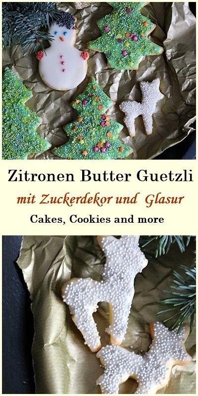 Rezept für Zitronen Butter Guetzli - Weihnachtsgebäck, Cookies, Plätzchen  #weihnachtsgebäck #plätzchen #butter #guetzli