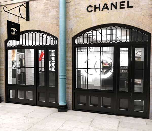 Chanel  pop up shop in Covent Garden