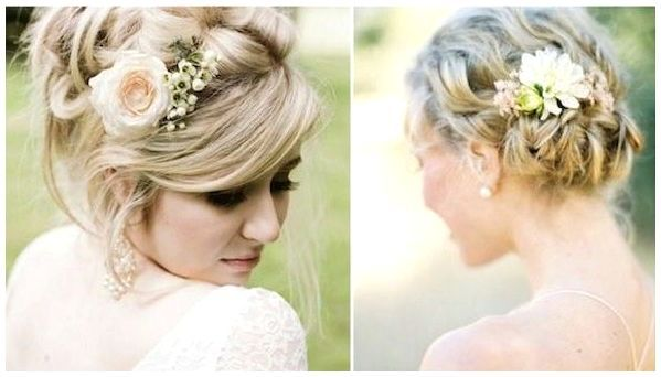 bridal veils with flowers plaits - Google Search