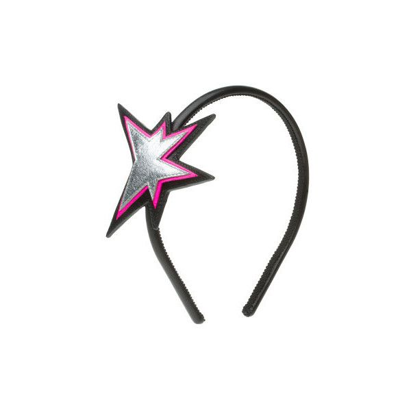 Miu Miu NAPPA LEATHER HEADBAND WITH STAR MOTIF ($140) ❤ liked on Polyvore featuring accessories, hair accessories, headband, hair stuff, miu miu, head wrap hair accessories, star hair accessories, headband hair accessories and head wrap headband