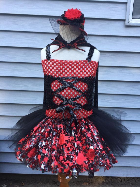 Vampire Tutu Dress - Vampire Costume - Toddler Vampire Dress - Toddler Vampire Tutu - Baby Vampire Costume - Baby Vampire Dress - Vamp Tutu