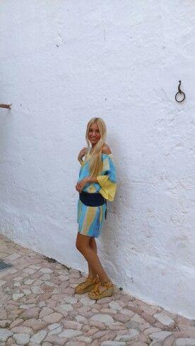 Silk dresses paint hand made.  Àngels Martí sedes.