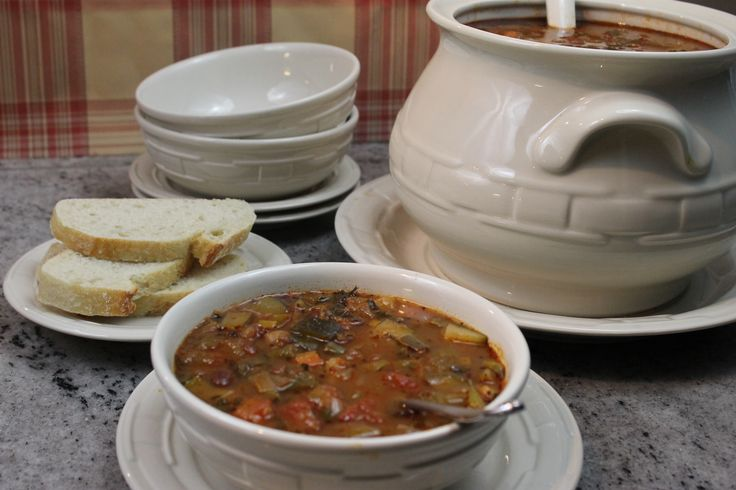 A traditional Italian minestrone soup recipe that is full of vegetables and flavor.