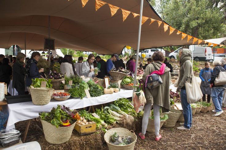 Locals and visitors alike stock up on just-picked produce at the Oranjezicht City Farm Market, Cape Town #GourmetAfrica #Food #SouthAfrica #Africa #Cape #CapeTown #Gourmet #travel #foodie #Market #Organic